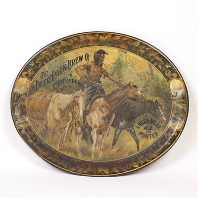 Deer Park Native American Horses Tray