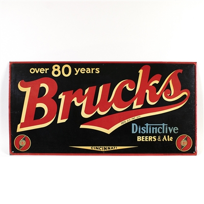 Brucks Distinctive Beer and Ale Tin Sign
