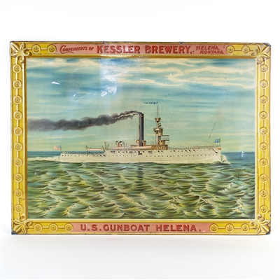 Kessler Brewery U.S. Gunboat Helena Tin Sign