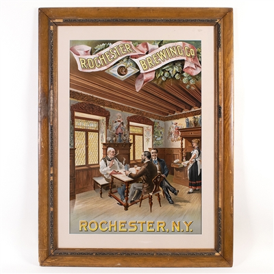Rochester Brewing Pub Interior Scene Litho