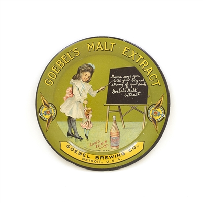 Goebel Malt Extract Girl Board Tip Tray