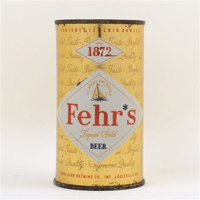 Fehrs Liquid Gold Flat Top Beer Can