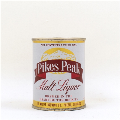 Pikes Peak Malt Liquor 8 oz Flat Top 242-7