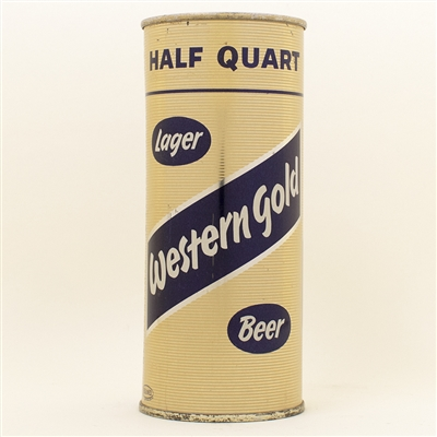 Western Gold Pint Flat Top Beer Can