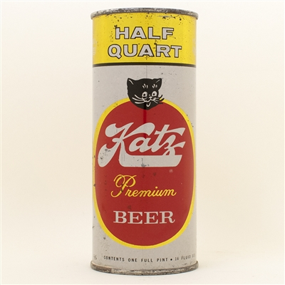 Katz Beer Half Quart Pint Flat Top Can