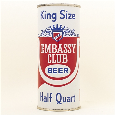 Embassy Club Beer Chicago Pint Flat Top Can