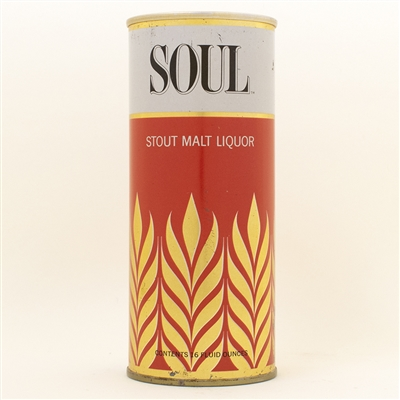 Soul Stout Malt Liquor Pint Tab Top Beer Can