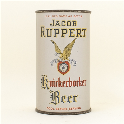 Jacob Ruppert Knickerbocker Instructional Flat Top Beer Can