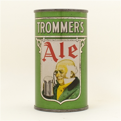 Trommers Ale Opening Instruction Flat Top Beer Can