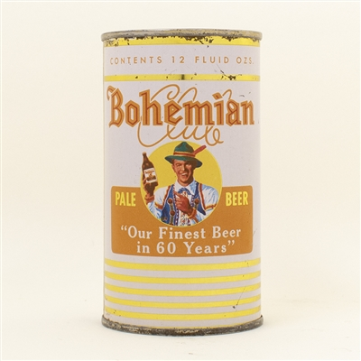 Bohemian Club Beer Flat Top Can