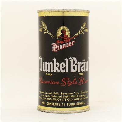 Dunkel Brau Beer 11 oz Flat Top Beer Can