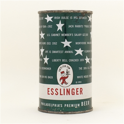 Esslinger Beer Parti Quiz Pa Ratified Flat Top Can