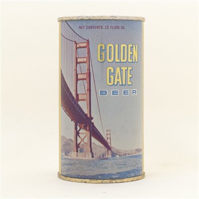Golden Gate Beer Bridge Scene Flat Top Can