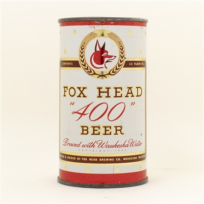 Fox Head 400 Beer Flat Top Can