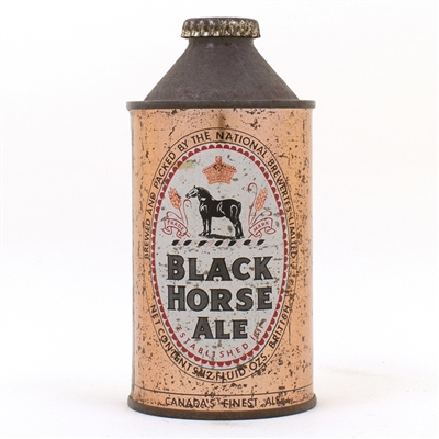 Black Horse Ale Cone Top Beer Can