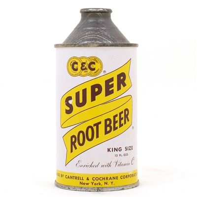 CC Super Root Beer Cone Top Can