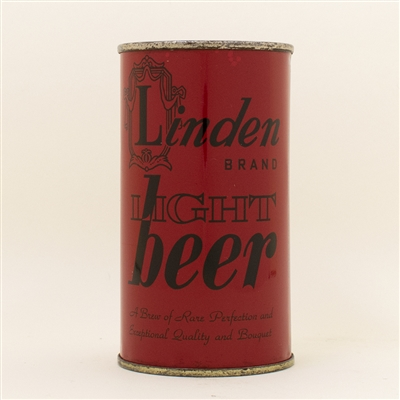 Linden Light Beer Red Flat Top Can