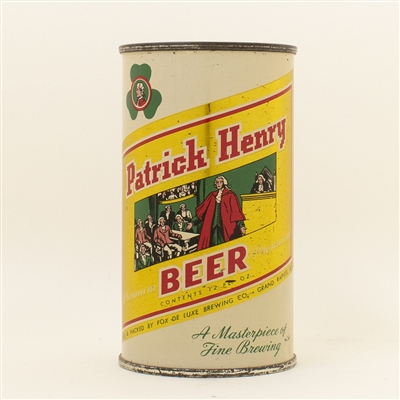 Patrick Henry Beer Flat Top Can