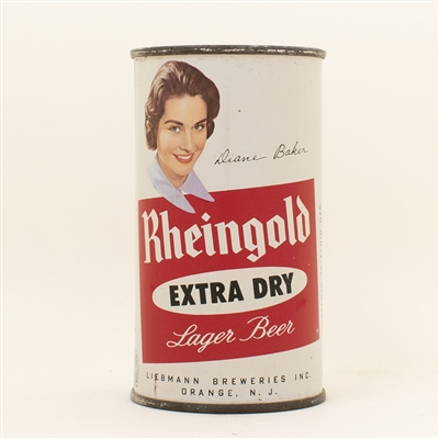 Rheingold Girl Diane Baker Flat Top Beer Can