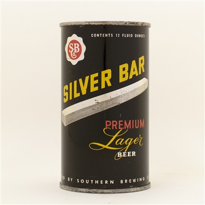 Silver Bar Lager Beer Flat Top Can