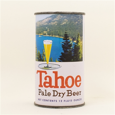 Tahoe Pale Dry Flat Top Beer Can