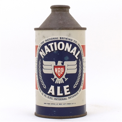 National Ale DULL GRAY Cone Top Can