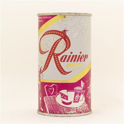 Rainier Beer Pink Flat Top Set Can ORIGINAL