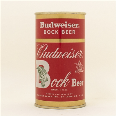 Budweiser Bock Beer Flat Top Can