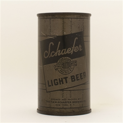 Schaefer Beer WFIR Olive Drab Flat Top Can