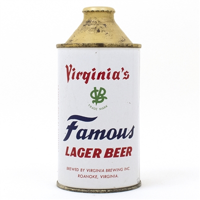 Virginias Famous Cone Top Beer Can