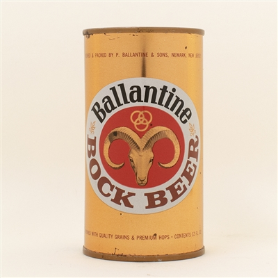 Ballantine Bock Flat Top Beer Can