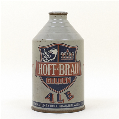 Hoff-Brau Ale Rare Gray Crowntainer Cone Top