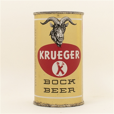 Krueger Bock Metallic Flat Top Beer Can NICE