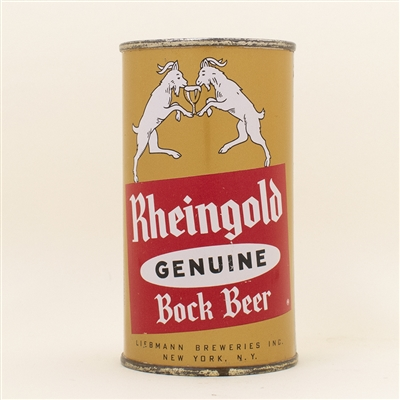Rheingold Bock Dancing Goats Flat Top Beer Can