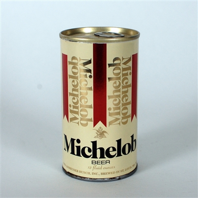 Michelob Cream Red Metallic Test Can