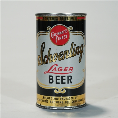 Schoenling Lager Beer Flat Top Can