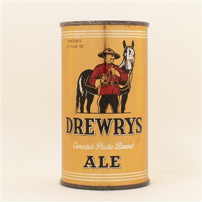 Drewrys Ale Mountie Instructional Flat Top Beer Can
