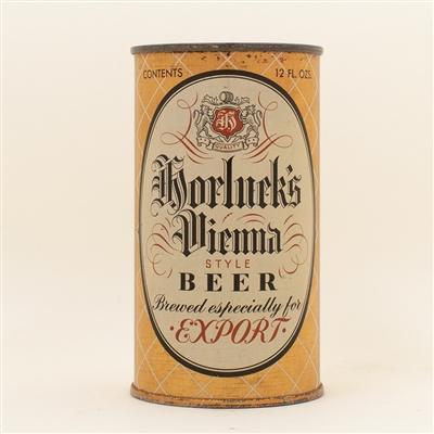 Horlucks Vienna Export Instructional Flat Top Beer Can