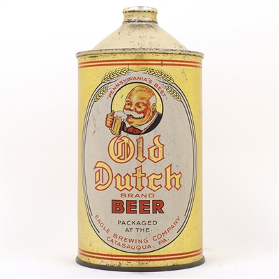 Old Dutch Brand Beer Quart Cone Top Eagle