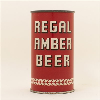 Regal Amber Beer Opening Instruction Flat Top Can