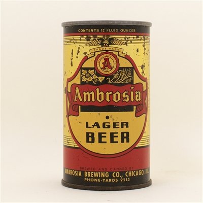 Ambrosia Beer Opening Instruction Flat Top Can