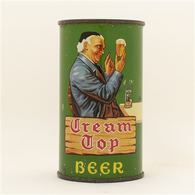 Cream Top Beer Opening Instruction Flat Top Can