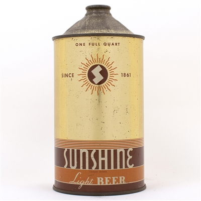 Sunshine Light Beer Quart Cone Top Can