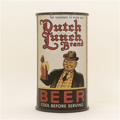 Dutch Lunch Brand Beer Opening Instruction Flat Top Can