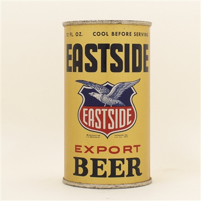 Eastside Beer Black Writing Instructional Flat Top Can