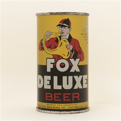Fox DeLuxe Beer Fox Chicago OI Flat Top Can