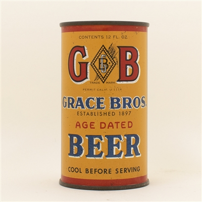 GB Grace Bros Beer Instructional Flat Top Can