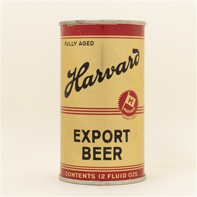Harvard Export Beer Instructional Flat Top Can CLEAN