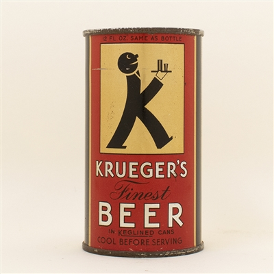 Kruegers Finest Beer Baldie Instructional Flat Top Can