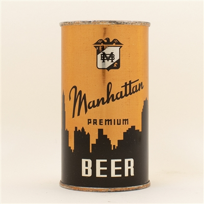 Manhattan Beer 4 Panel OI Flat Top Can